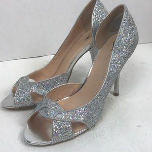 Windsor Holographic Silver Heels